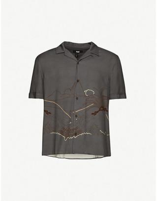 Paige Landon graphic-print woven shirt