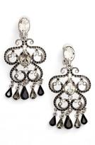 Oscar de la Renta Women's Pave Scroll Clip Earrings