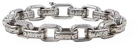 John Varvatos Artisan Metals Sterling Silver Large Link Bracelet