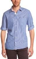 TBS Men's Long sleeveCasual Shirt Blue Bleu (Outremer)