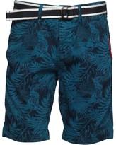 Superdry Mens International Print OD Chino Shorts Navy Blue Woodblock