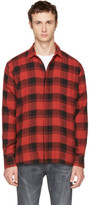 Saint Laurent Red and Black Check Shirt