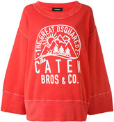 DSQUARED2 wide sleeve sweatshirt - women - Cotton - M