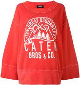 DSQUARED2 wide sleeve sweatshirt - women - Cotton - XXS