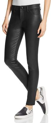 DL1961 Emma Leather Front Power Legging Jeans in Poseidon