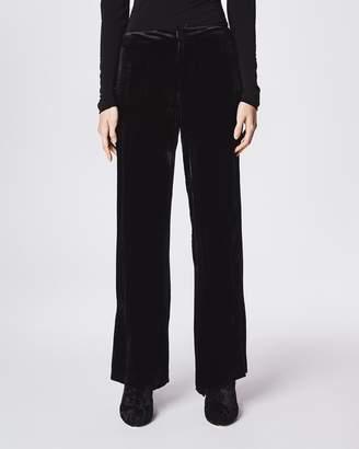 Nicole Miller Crinkled Velvet Pant