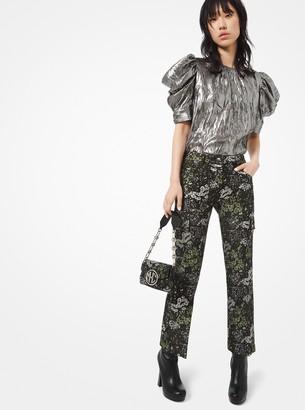 Michael Kors Floral Brocade Cargo Pants