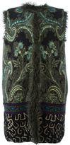 Etro embroidered sleeveless coat - women - Acrylic/Polyamide/Polyester/Lamb Fur - 42
