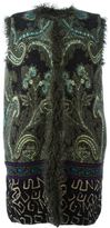 Etro embroidered sleeveless coat - women - Lamb Fur/Viscose/Wool/Alpaca - 42