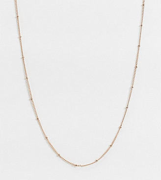 Orelia Exclusive necklace in gold plate rose gold satellite chain