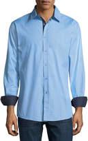 English Laundry Zigzag Sport Shirt, Blue