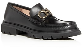 Salvatore Ferragamo Men's Bleecker Leather Moc Toe Loafers