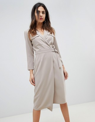 ASOS DESIGN utility midi dress with pockets and d-ring belt