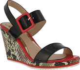 Azura Women's Nzuri Snake Print Wedge Sandal