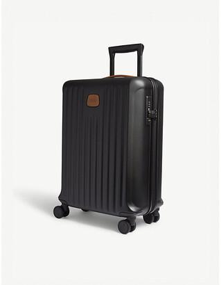 Bric's Brics Black Matt Stripe Capri Hard Case Carry On Suitcase, Size: 55cm