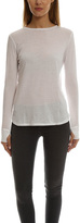 Helmut Lang Cotton-Cashmere Long Sleeve Tee