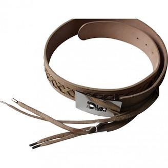 Christian Dior Beige Leather Belts