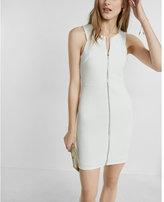 Express sleeveless ribbed zip dress