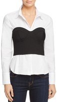 Bardot Layered-Look Bustier Shirt - 100% Exclusive