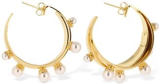 Ca&Lou Artemisia Imitation Pearl Hoop Earrings