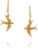 Alex Monroe 22-karat gold-plated sapphire earrings