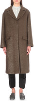 Jil Sander Metallic-knit wool-blend coat
