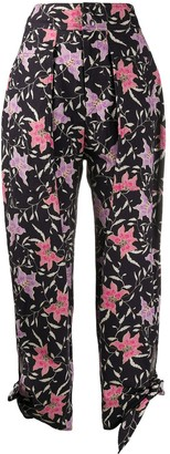 Isabel Marant Gaviao floral-print tapered trousers