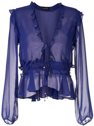 Olympiah Ravena ruffle blouse