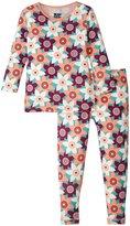 Kickee Pants Print Pajama Set (Toddler/Kid) - Pasqueflower - 4T