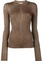 Christopher Kane metallic yarn knit top - women - Polyester/Viscose - XS