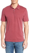 James Perse Men's Slim Fit Sueded Jersey Polo
