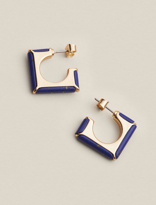 Lapis Square Hoops
