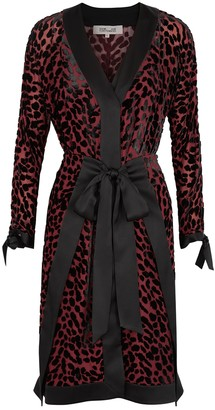 Diane von Furstenberg Pianna Leopard-devore Chiffon Midi Dress