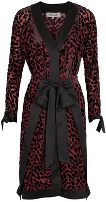 Diane von Furstenberg Pianna leopard-devore chiffon dress