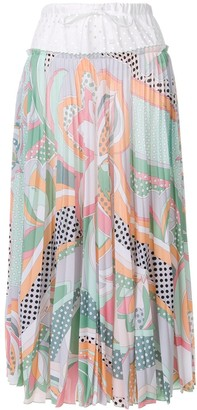 Emilio Pucci Drawstring Waist Pleated Skirt