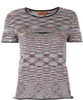 Missoni patterned crop T-shirt - women - Nylon/Wool - 44