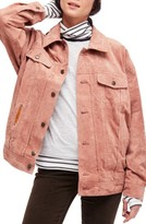 Free People Women's Suede Trucker Jacket