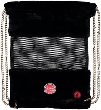 Detroit Pistons Mesh Gold Chain Drawstring Bag