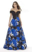 Morrell Maxie 15620 Lace Off-Shoulder Floral A-line Dress