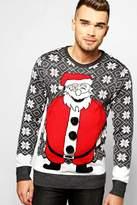 Boohoo Santa Padded Effect Christmas Jumper