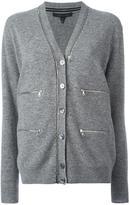 Marc Jacobs zipped long sleeve cardigan - women - Wool - XL
