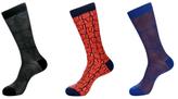 Jared Lang Web and Abstract Socks (3 PK)