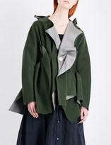 Undercover Asymmetric wool-blend coat