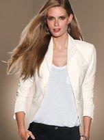 Two-button jacket in seasonless stretch