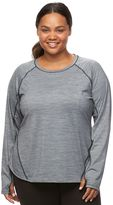 Tek Gear Plus Size Space-Dyed Performance Workout Tee