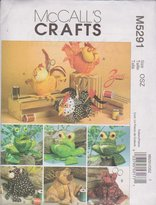 Mccall's Crafts Pattern M5291 for Animal Sewing Caddies