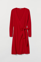 H&M H&M+ Knit Wrap Dress - Red
