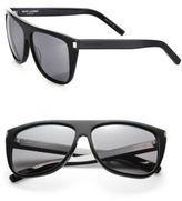 Saint Laurent SL1 59MM Oversize Flattop Unisex Sunglasses