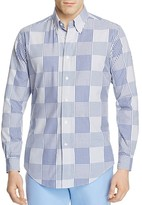 Brooks Brothers Regent Patchwork Slim Fit Button-Down Shirt