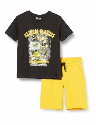 Tuc Tuc Yellow T-Shirt and Plush Bermudas Set for BOY Fresh Fruits